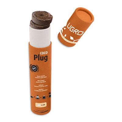 UGro Plug-sadbovací Jiffy 24ks (jiffy na klíčení rostlin bez trichodermy)