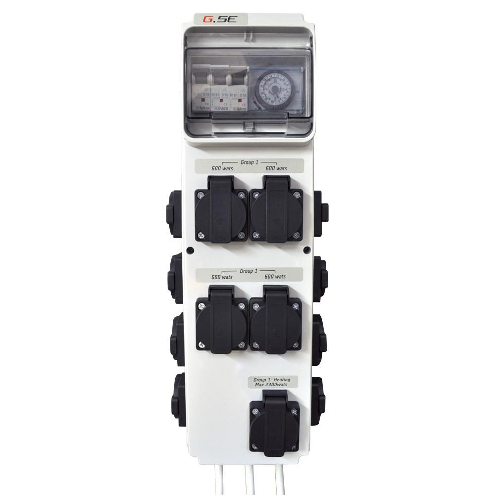 GSE Timer BoxIII 12x600W+topení třífázové (spínací hodiny)