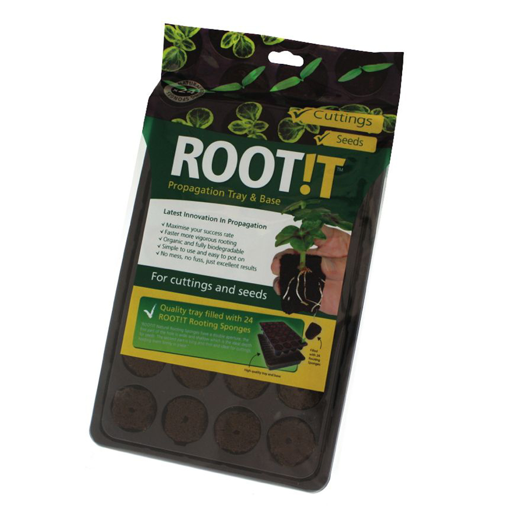 ROOT IT NATURAL ROOTING SPONGE 24 CELL FILLED