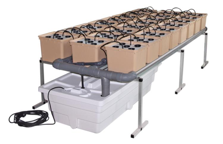 GHE DutchPot System Aero 2m² (hydroponický systém)