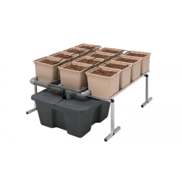 GHE DutchPot System hydro 1m² (hydroponický systém)