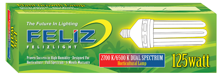 Feliz 125W dual spektrum růst a květ (úsporná lampa)