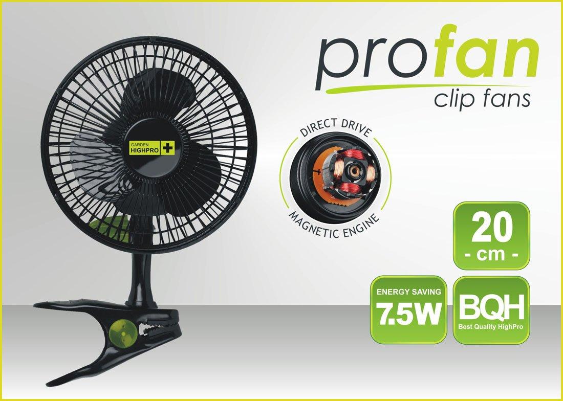 PRO Fan průměr 20cm 7,5W 325m3/h (klipsnový ventilátor)