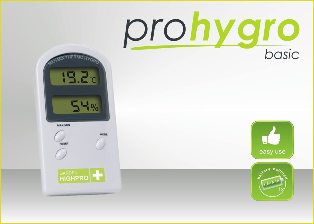 Digitální Thermo - Hygro metr BASIC bez sondy (teplo vlhkoměr mini/maxi bez sondy)