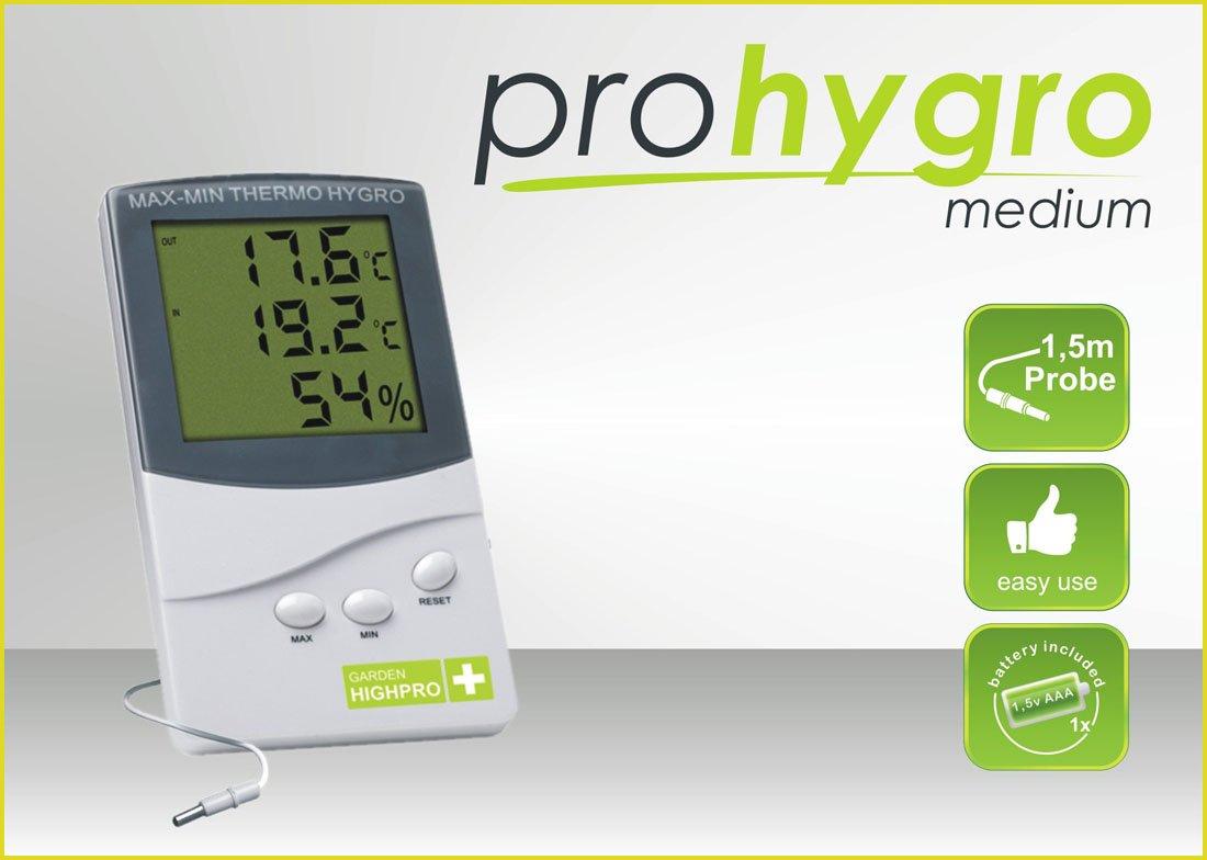 Digitální Thermo - Hygro metr MEDIUM se sondou (teplo vlhkoměr mini/maxi se sondou)