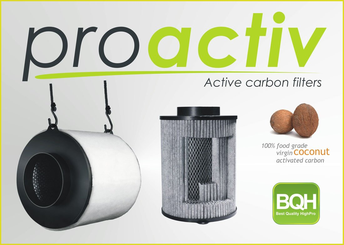 Filtr Pro Activ 125/250 m3/h s aktivním uhlím proti zápachu (s aktivním uhlím)