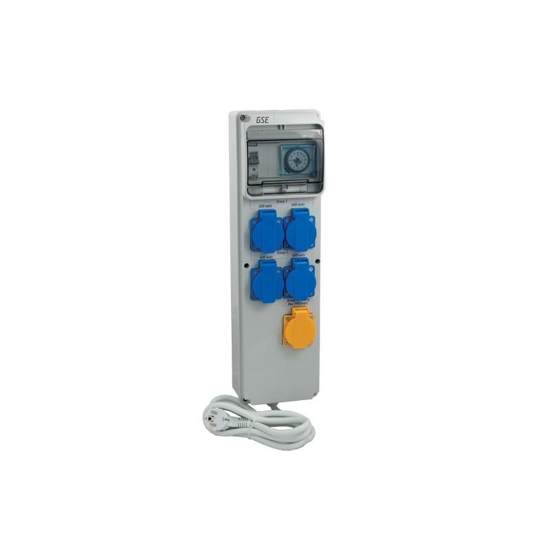 GSE Timer BoxIII 4x600W+topení (spínací hodiny)