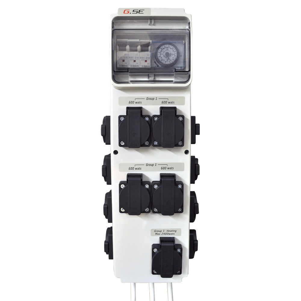 GSE Timer BoxIII 12x600W+topení (spínací hodiny)
