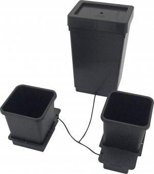 AUTOPOT 1POT MODULE SE 2 KVĚTINÁČI VČETNĚ 47L PLASTOVÉ NÁDRŽE (samozavlažovací systém)