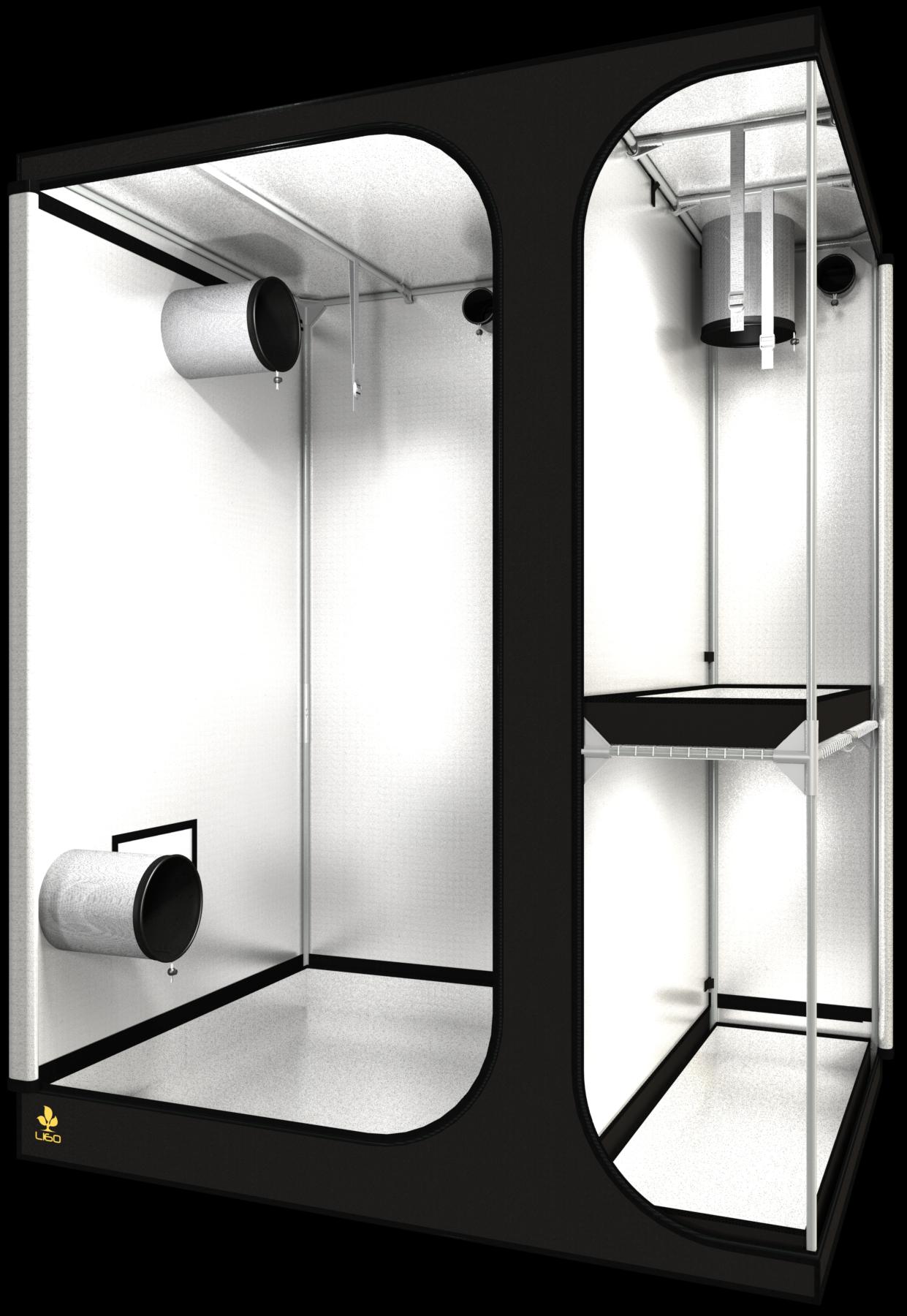 Dark room LODGE L160 REV 2,5 160X120X205cm (160X120X205cm pěstební box s dvěma místnostmi)