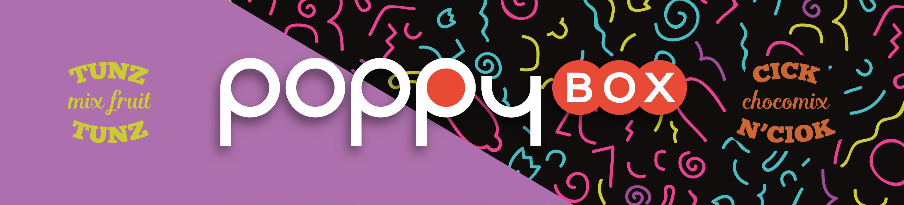 PoppyBox párty balení Tunz mix fruit (papírky,filtry, zápalky, žvejkačky,bonony a preservtiv v jednom)