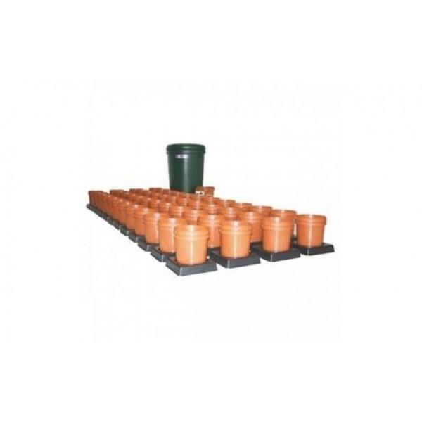 Multiflow V1 - 48 květníků, 350L tank - zavlažovací systém (Automatický hydroponický systém)