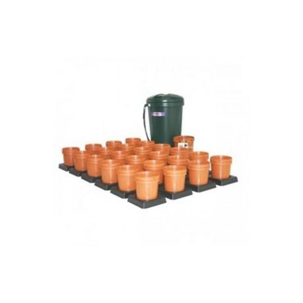 Multiflow V1 - 24 květníků, 250L tank - zavlažovací systém (Automatický hydroponický systém)