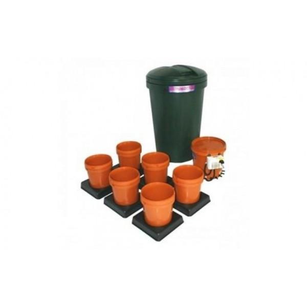 Multiflow V1 - 6 květníků, 250L tank - zavlažovací systém (Automatický hydroponický systém)