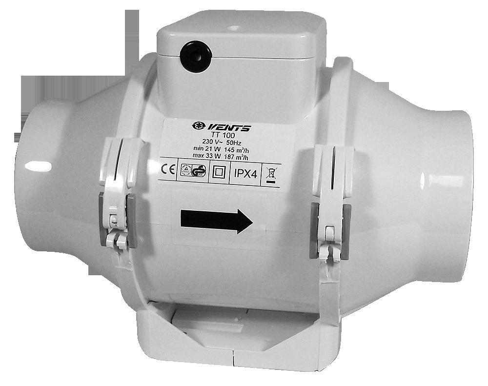TT 100 145/187m3/h 100mm (ventilátor Vents tt )