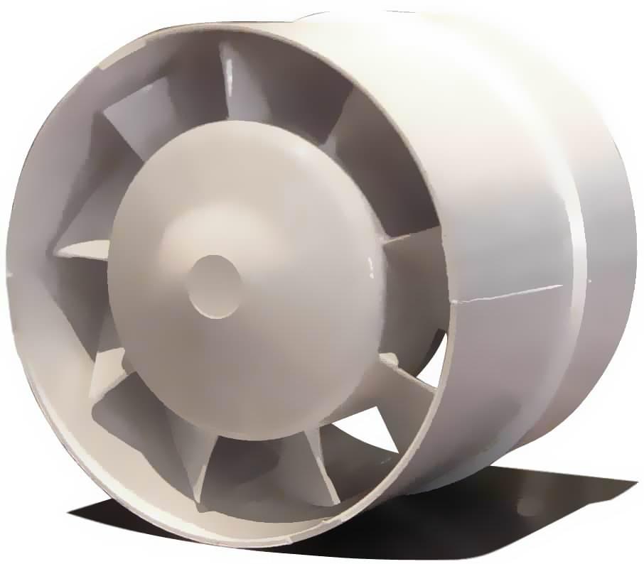 Ventilátor Vents Vko 125 185m3/h potrubní (potrubní ventilátor)