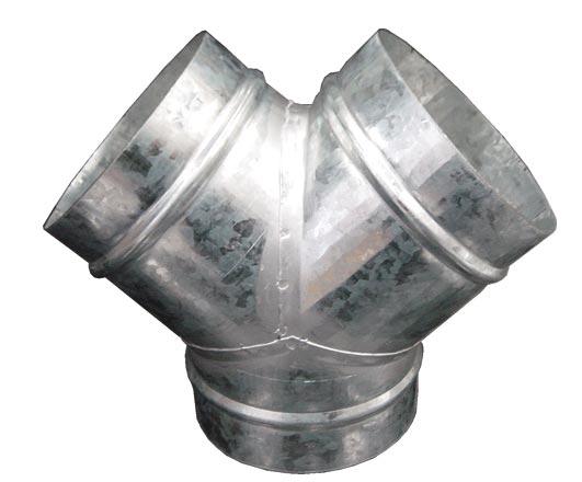 Y Spoj odbočka, Kalhoty 125x125x125mm (spojovací materiál)